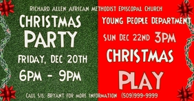 church christmas program party play Facebook-advertentie template