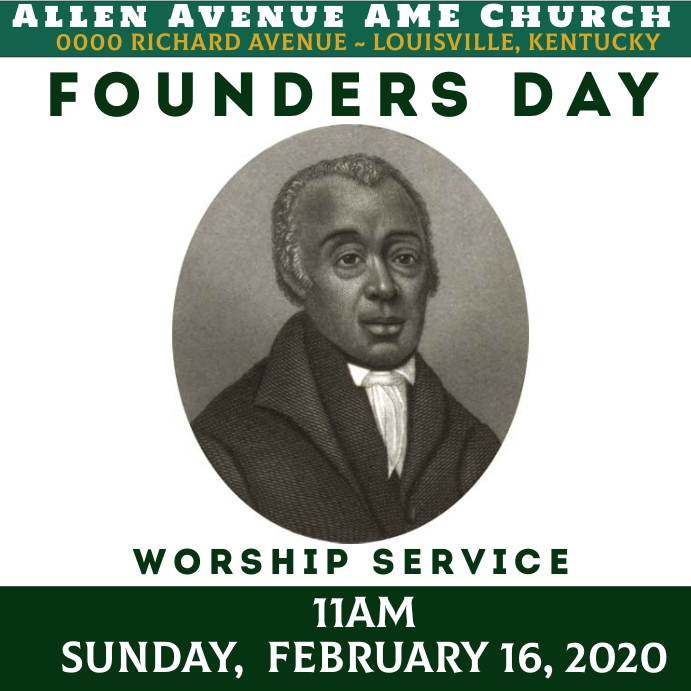 AME Church Founders Day Template
