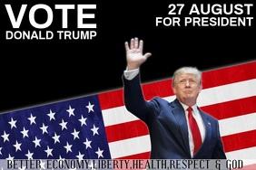 AMERICA AMERICAN campaign poster template