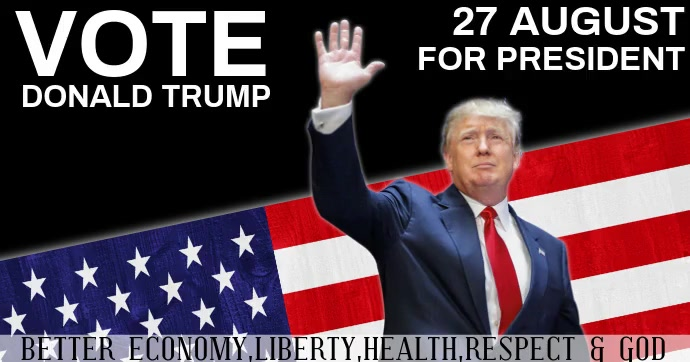 AMERICA AMERICAN campaign poster template Facebook Shared Image