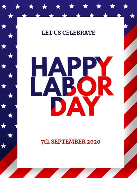 America Labor Day Instagram Post Pamflet (Letter AS) template