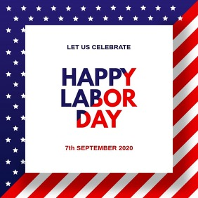 America Labor Day Instagram Post template