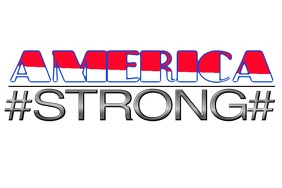 America Strong Poster template