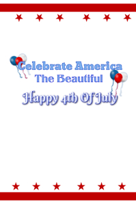 America The Beautiful 4th Of July Poster