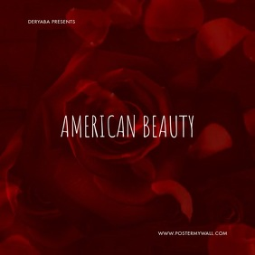 American Beauty Flower CD Cover Portada de Álbum template