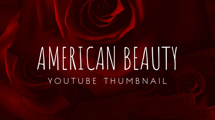 American Beauty Flower Youtube Thumbnail template