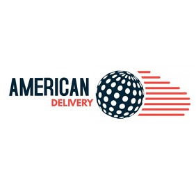 american delivery icon logo template design
