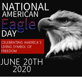 AMERICAN EAGLE DAY FLYER TEMPLATE Square (1:1)
