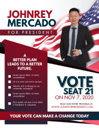 American Election Campaign Poster Flyer (US Letter) template