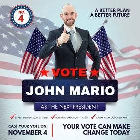 American Elections Online Ad Instagram-bericht template