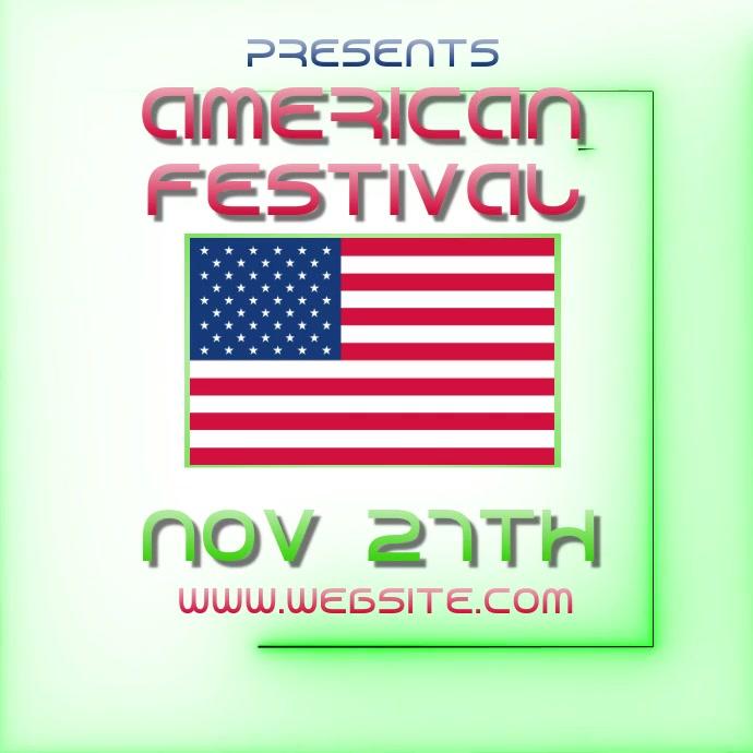 american fest festival ad video digital Logo template