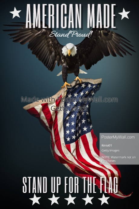 american flag american made customize template