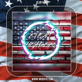 AMERICAN FLAG AD SOCIAL MEDIA TEMPLATE