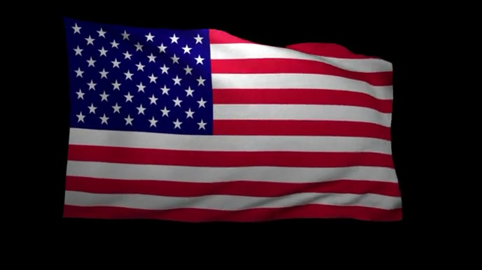 American Flag Zoom Virtual Background Video Template