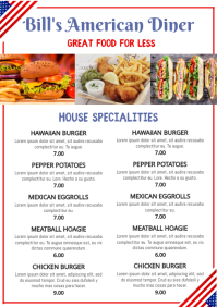 American Food Menu Poster Template