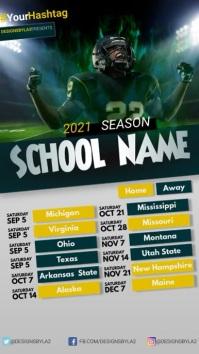 American Football Calendar Instagram-verhaal template