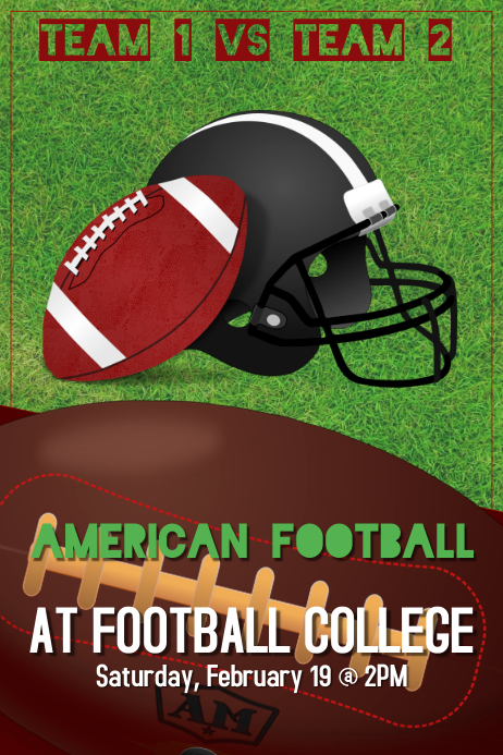 american football poster template postermywall