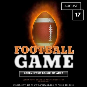 American Football Game Event Video Template for Instagram