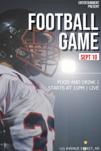 American football game flyer template