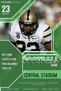 american football game match event template