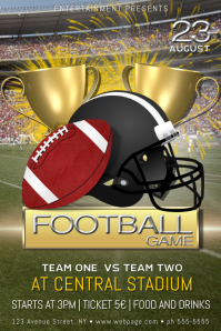 American Football game poster flyer template