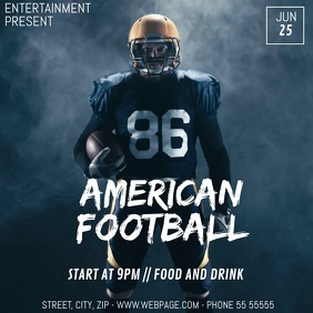 American football game video flyer template