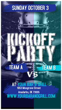 AMERICAN FOOTBALL KICK OFF PARTY INSTAGRAM ST template