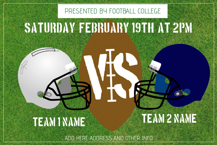 american football poster template landscape