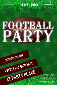 american football party poster template
