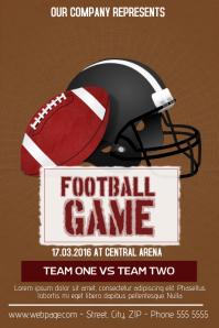 american football flyer template