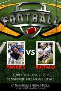1 240 customizable design templates for football match postermywall