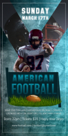 American Football Roll up Banner Rolbanner 3' × 6' template