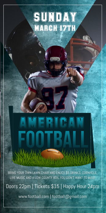 American Football Roll up Banner