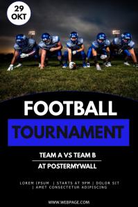 American football tournament flyer template
