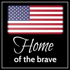 American Home of the Brave Template