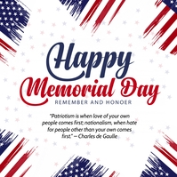 American Memorial Day Poster Template Square (1:1)