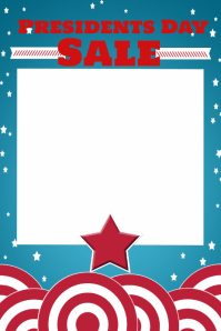 American Patriotic Retail Sale Flyer Poster President's Day