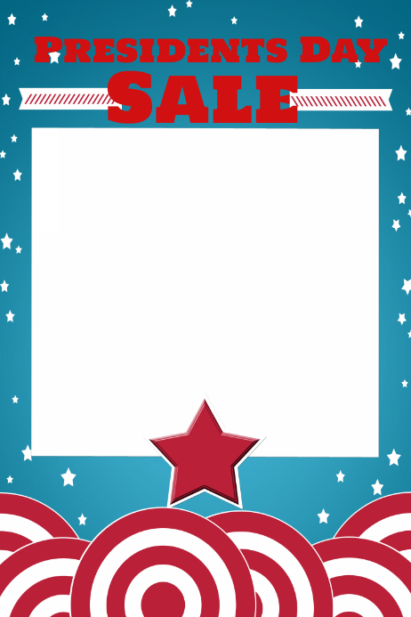 American Patriotic Retail Sale Flyer Poster President's Day 海报 template