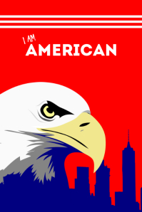 american poster template