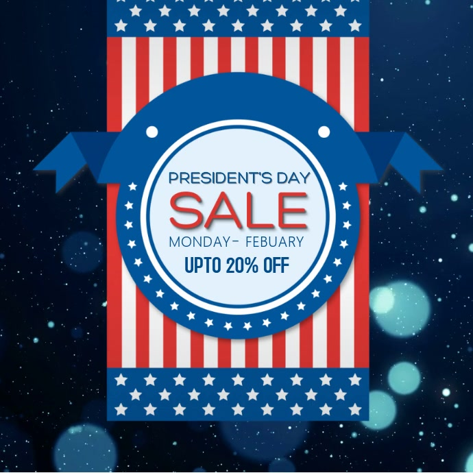 American President's Day Sale video Template