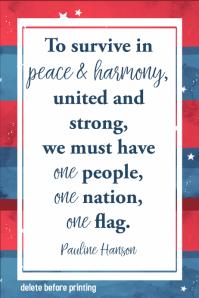 American Pride Memorial Day Poem Inspirational Flyer Poster
