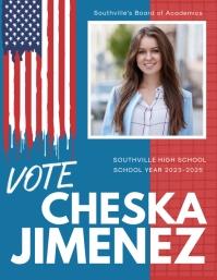 American School Election Flyer Template