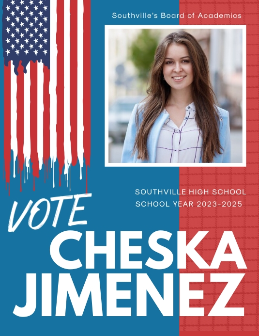 american school election flyer template
