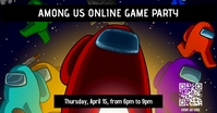 among us game party Facebook Shared Image template