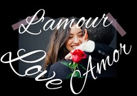 Amor Love Couples Valentine's Day Photo Video A4 template