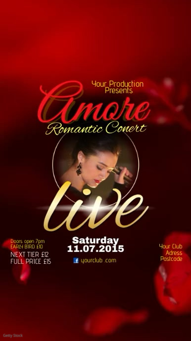 Amore Romantic concert video post