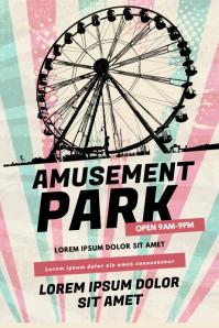 Amusement Park flyer Template