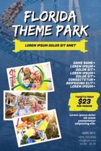 Amusement Theme Park Flyer Design Template