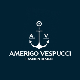 anchor icon fashion logo template