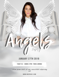 Angels Party Flyer Template Volante (Carta US)